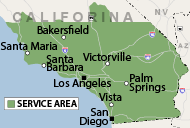 Our Southern California Service Area